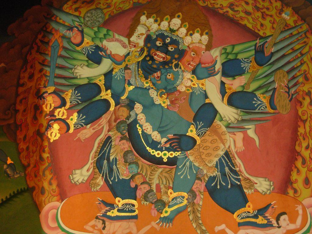 Wall Painting at Hemis Monastery 1024x768 - INDIE - Ladakh – Kaszmir: wyprawa na Festiwal Hemis Tsechu
