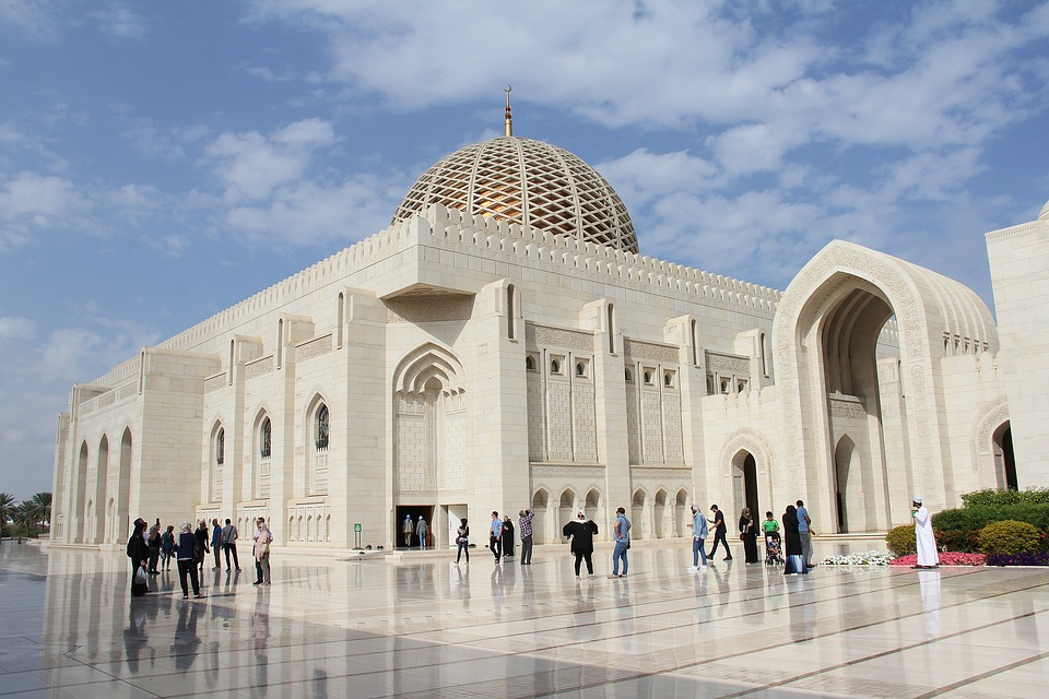 sultan qaboos grand mosque 3228100 960 720 - PÓŁWYSEP ARABSKI: Emiraty Arabskie – Oman – Kuwejt – Bahrajn – Katar – niezwykła wyprawa