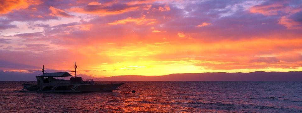 sunset 2582426 960 720 - FILIPINY: Bohol, Cebu, El Nido, Palawan, Manila i tarasy ryżowe Bangaan - wycieczka