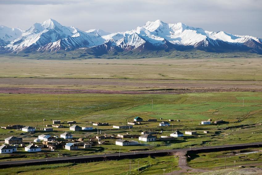 view of Pamir range