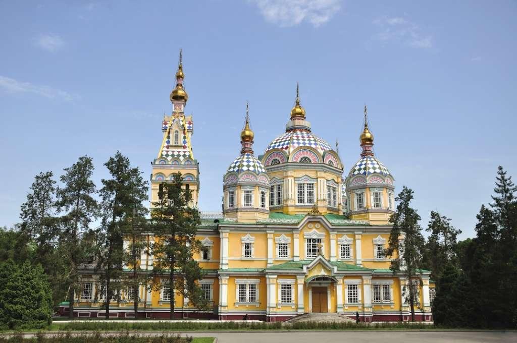 The Ascension (Voznesensky) Cathedral in Almaty, Kazakhstan
