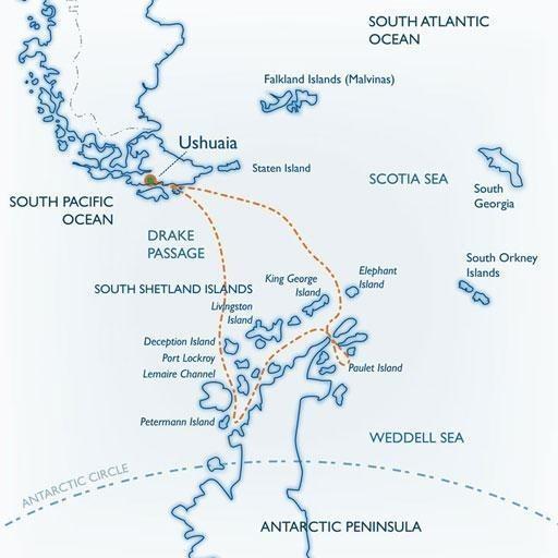 mapa ok - ANTARKTYDA 2020/2021 – wycieczka na biały kontynent
