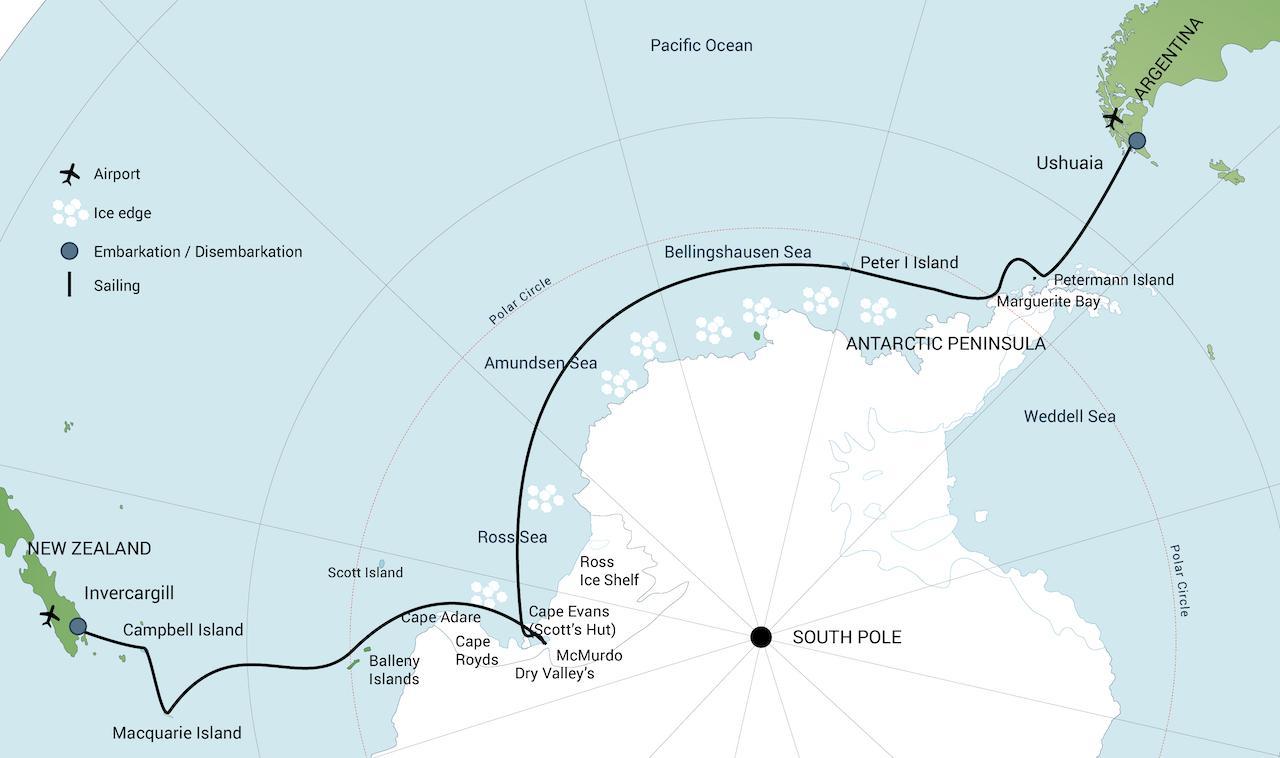 Ortelius Ross Sea 2020 - ANTARKTYDA – PODRÓŻ PRZEZ TRZY KONTYNENTY: Rejs z Nowej Zelandii do Argentyny